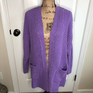 Style & Co Lilac Kiss Cardigan NEW